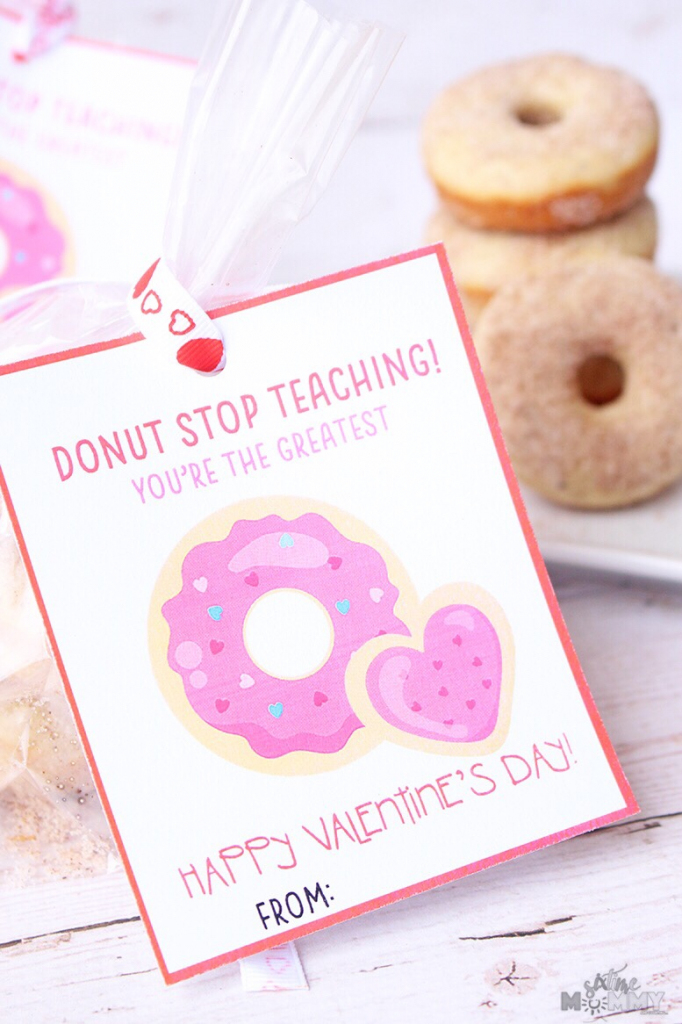 Valentine's Cards + Treats For Teachers With Free Printable! - Six   Printable Valentine Cards For Teachers