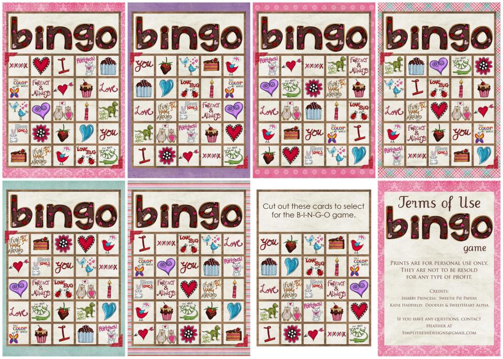 Valentine's Day Bingo Game - Simply Fresh Designs   Printable Mothers Day Bingo Cards