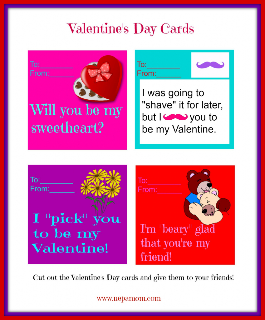 Valentines Day Card For Friends. Valentines Day Friendship Cards | Printable Friendship Cards Friends