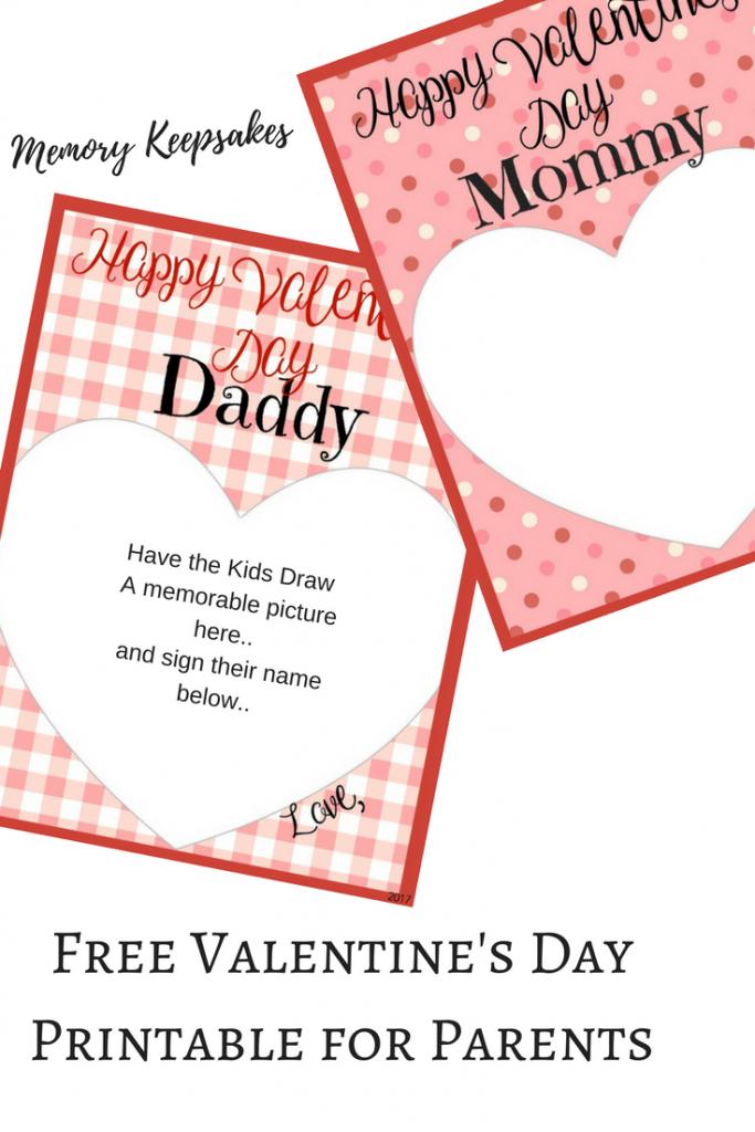 Valentine's Day Memory Keepsake Printable Cards For Parents | Free Printable Valentines Day Cards For Parents