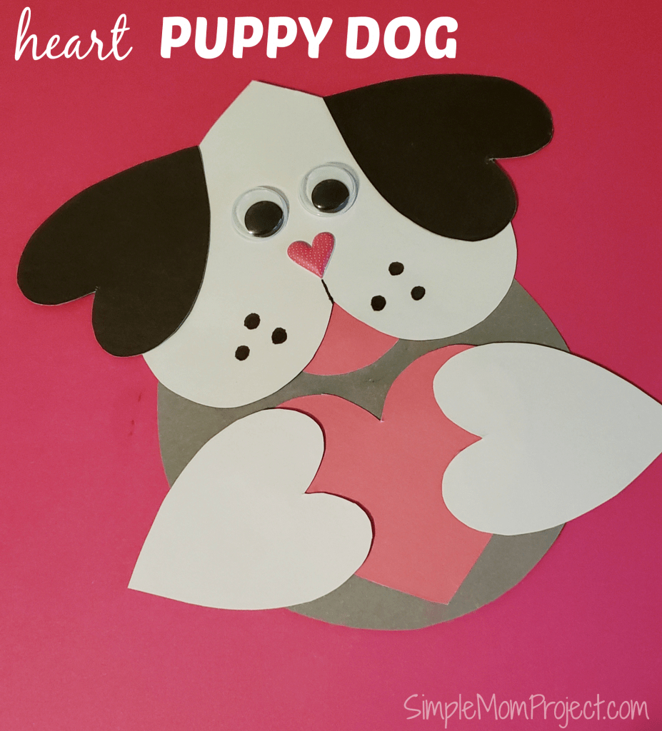 Valentine's Day Puppy Dog Card With Free Printable Template - Simple | Make Your Own Printable Valentines Card