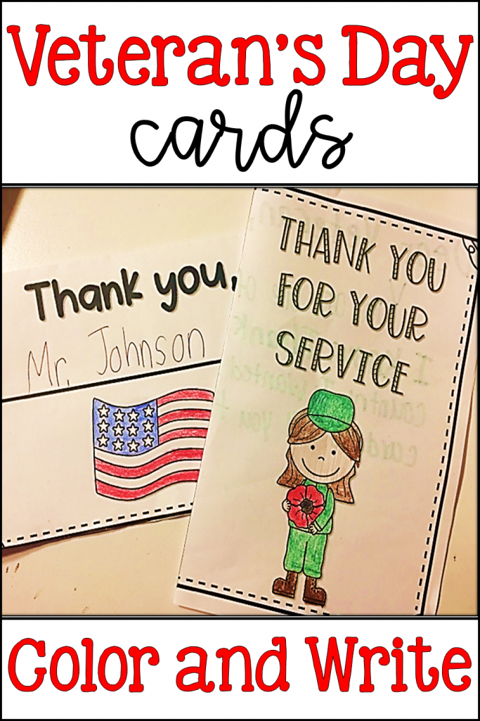 Veteran's Day Cards | Thank You Cards | Veteran's Day Writing | Veterans Day Cards Printable