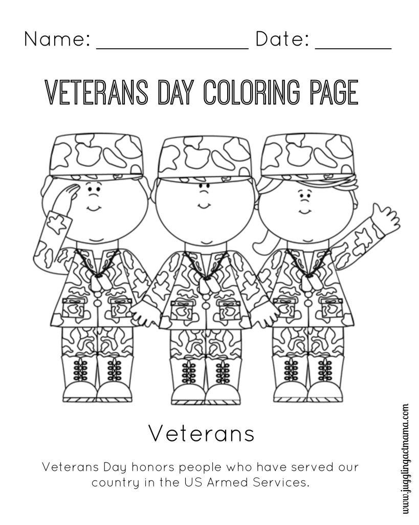 Veteran's Day Printable Coloring Page   Girl Scouts   Veterans Day   Veterans Day Free Printable Cards