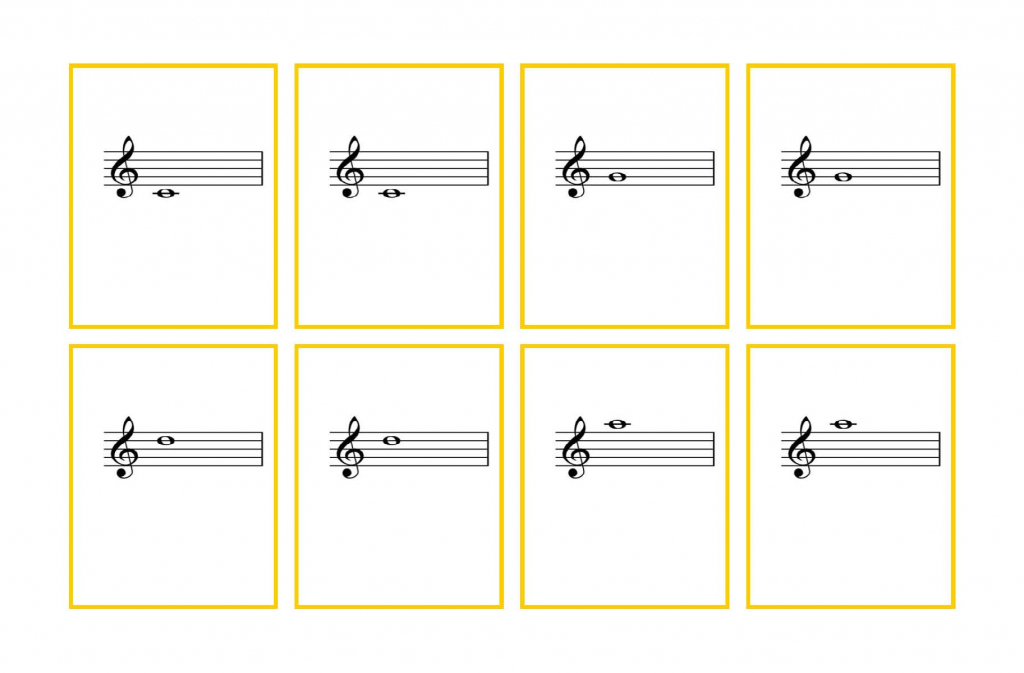 Violin Flash Cards – Third Finger Notes   Denley Music   Piano Music Notes Flash Cards Printable