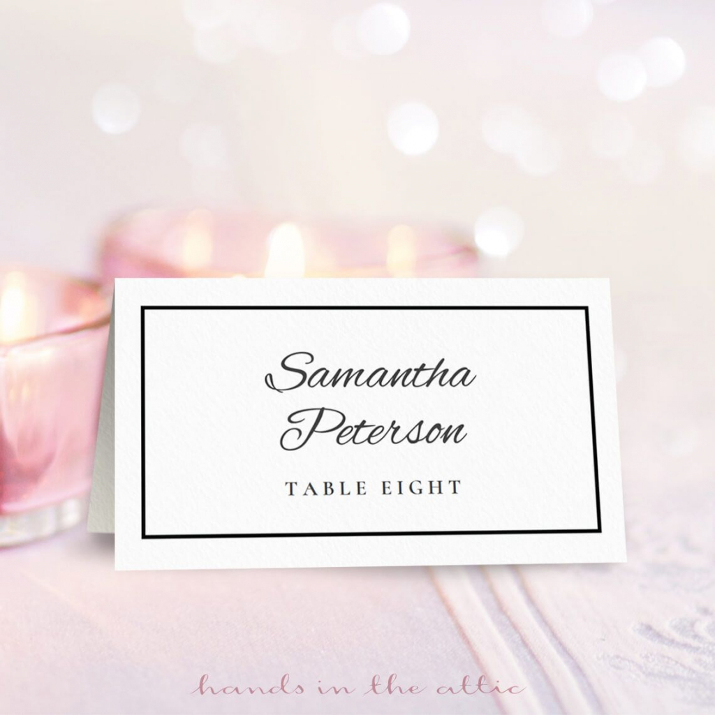 Wedding Place Card Template   Free On Handsintheattic   Wedding   Printable Wedding Place Cards