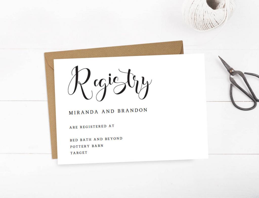 Wedding Registry Cards Baby Registry Card Gift Registry Card | Etsy | Printable Gift Registry Cards