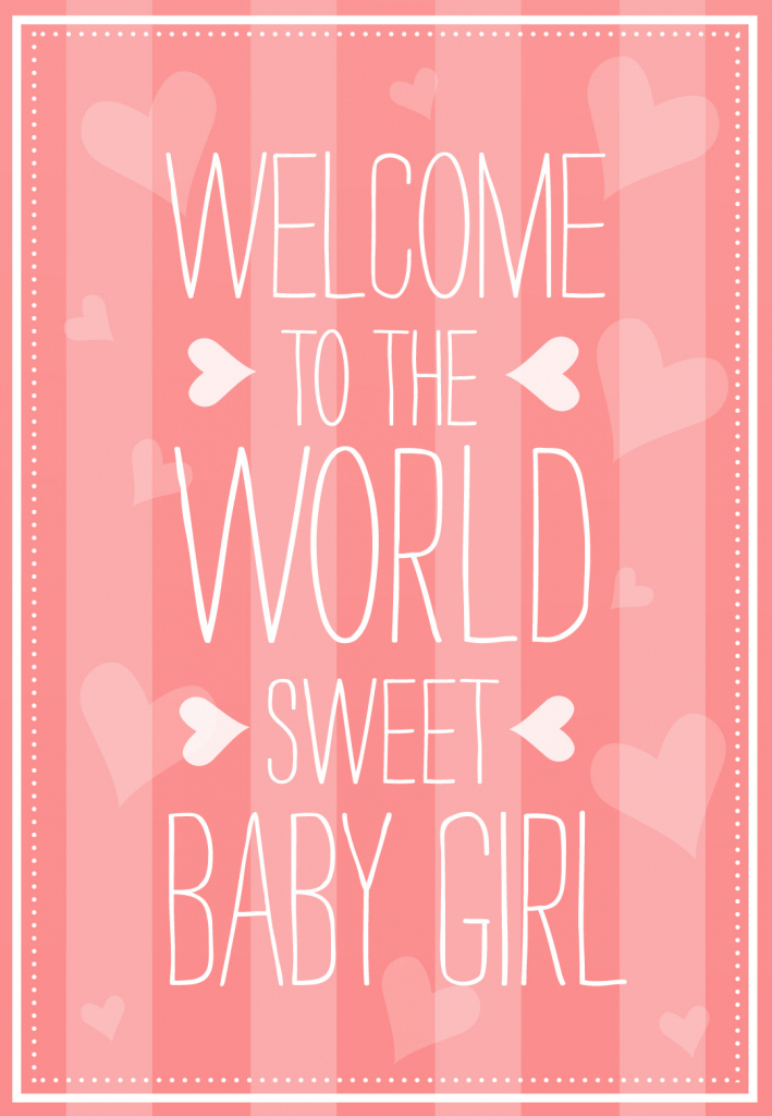 Welcome To The World - Baby Shower & New Baby Card   Greetings Island   Baby Greeting Cards Printable