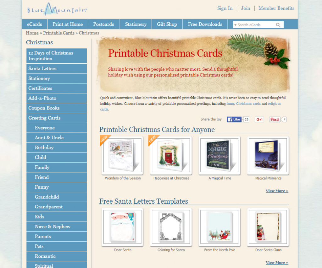 Where To Find Free Printable Christmas Card Templates – Printer | Blue Mountain Printable Christmas Cards