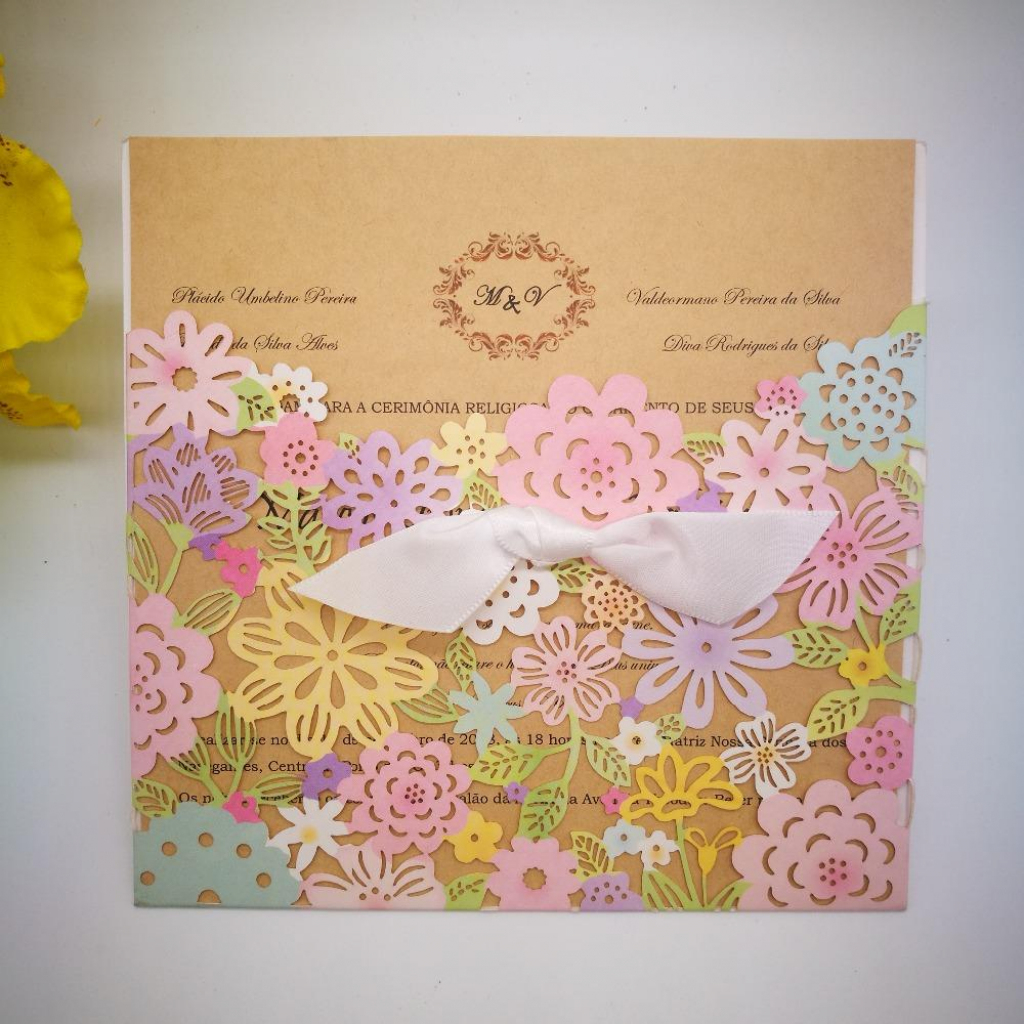 Wholesale Wedding Invitations Card Elegant Flowers Wedding Cards   Baby Shower Cards Online Free Printable
