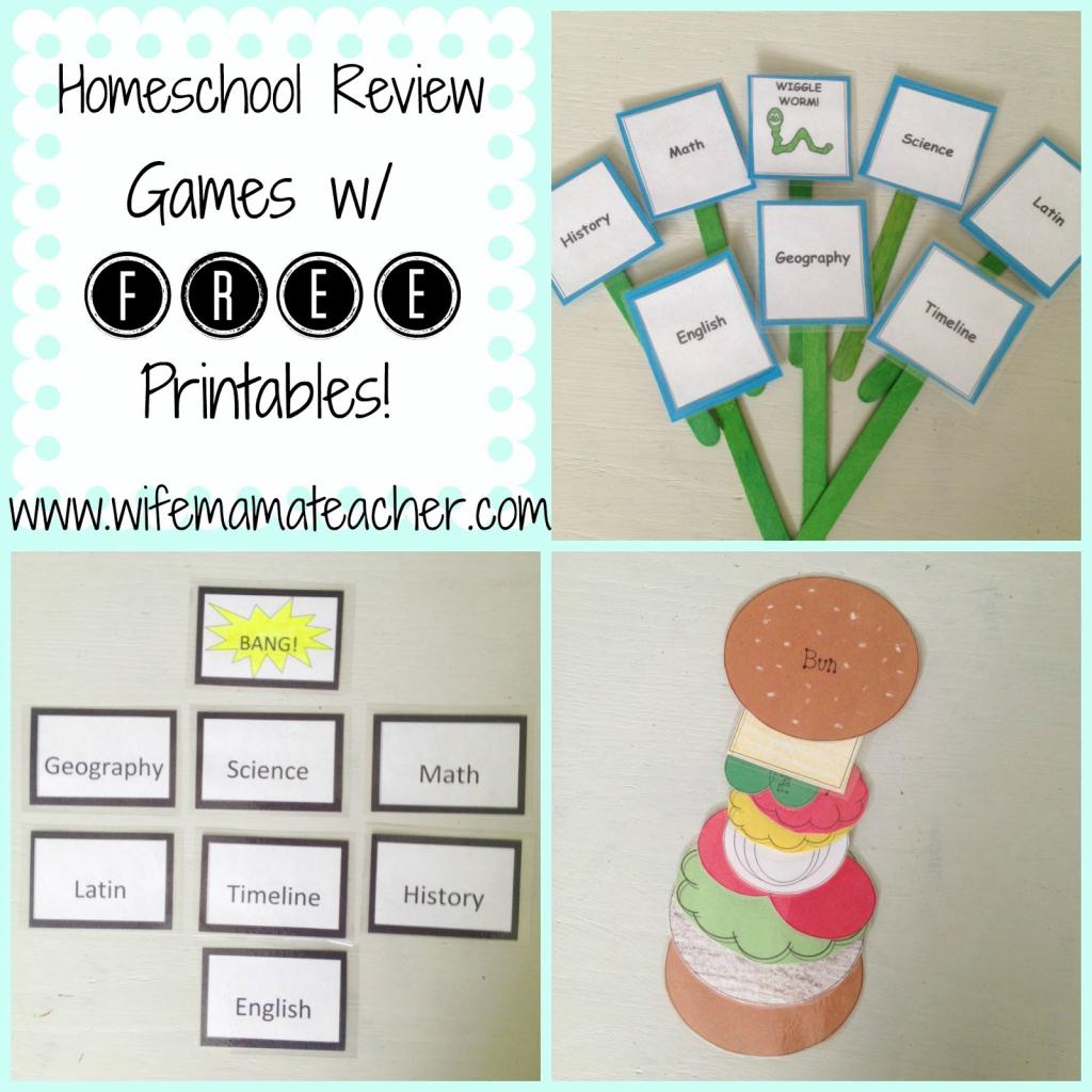 Wife, Mama, Teacher: Super Fun And Easy Homeschool Review Games | Bang Card Game Printable