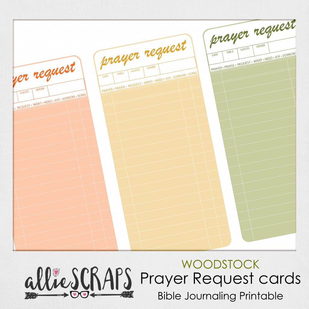 Woodstock | Prayer Request Cards Printable | Prayer Request Cards Printable