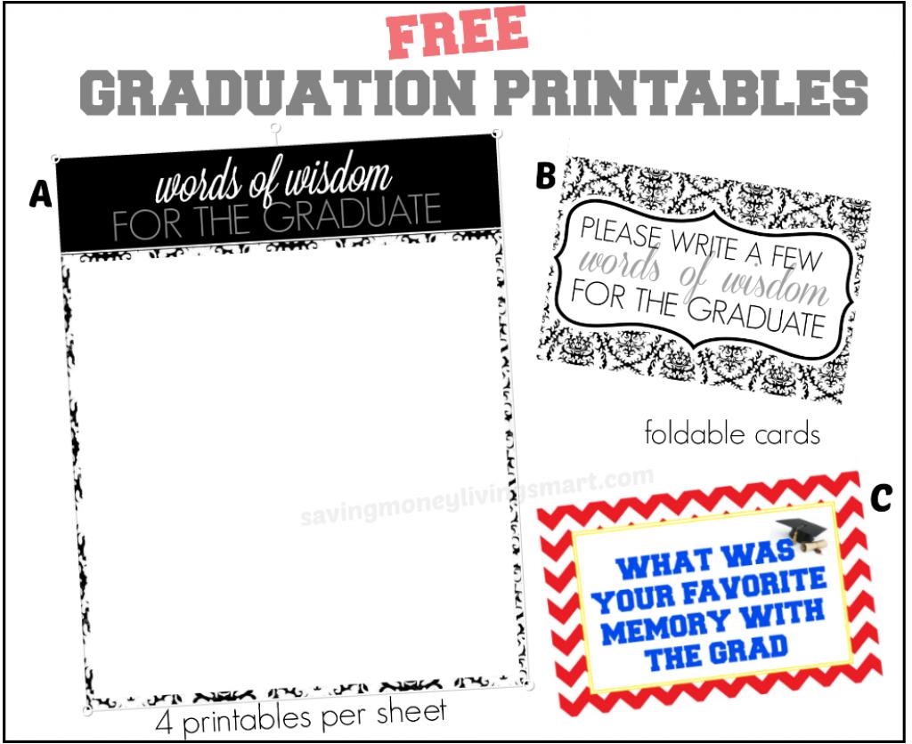 Words Of Wisdom Free Graduation Printables + More | Saving Money | Free Printable Graduation Advice Cards
