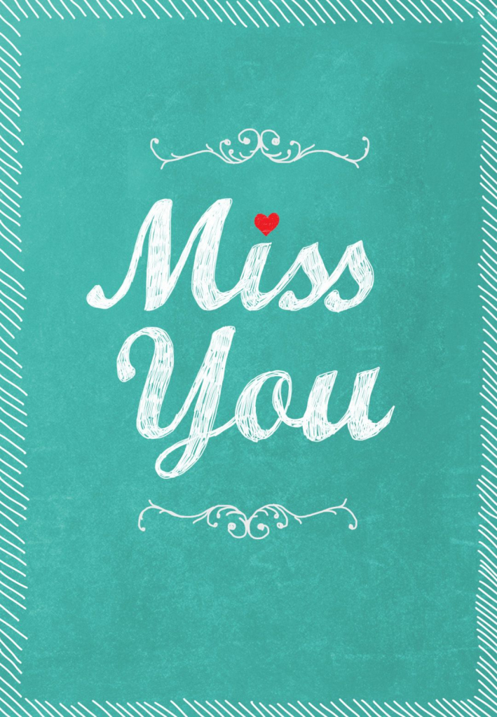 Wreath Of Love Place Cards. Image 0. Miss You I Miss You. Miss You I | Free Printable We Will Miss You Greeting Cards