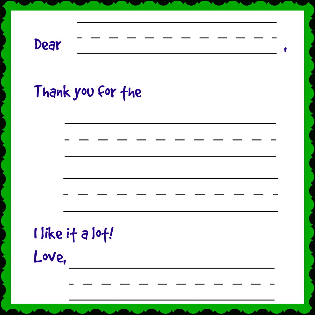 Writing Charming Thank You Notes (Free Printable): Day 12 Of 12 Days | Fill In The Blank Thank You Cards Printable Free
