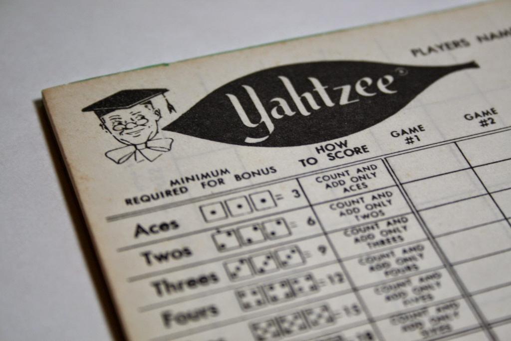 Yahtzee Online: Printable Yahtzee Score Sheet   Printable Yahtzee Score Cards Pdf