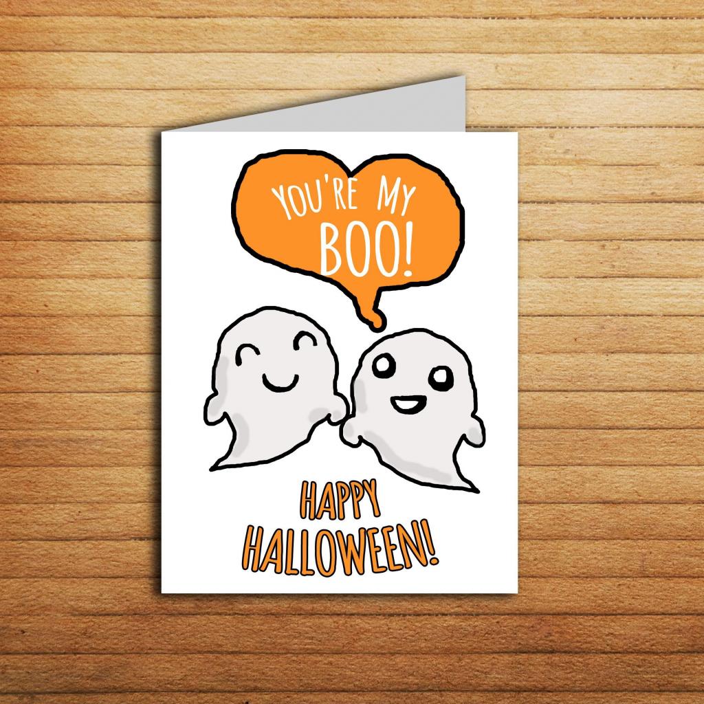 Youre My Boo Halloween Card For Boyfriend Halloween Anniversary Gift | Cute Printable Halloween Cards