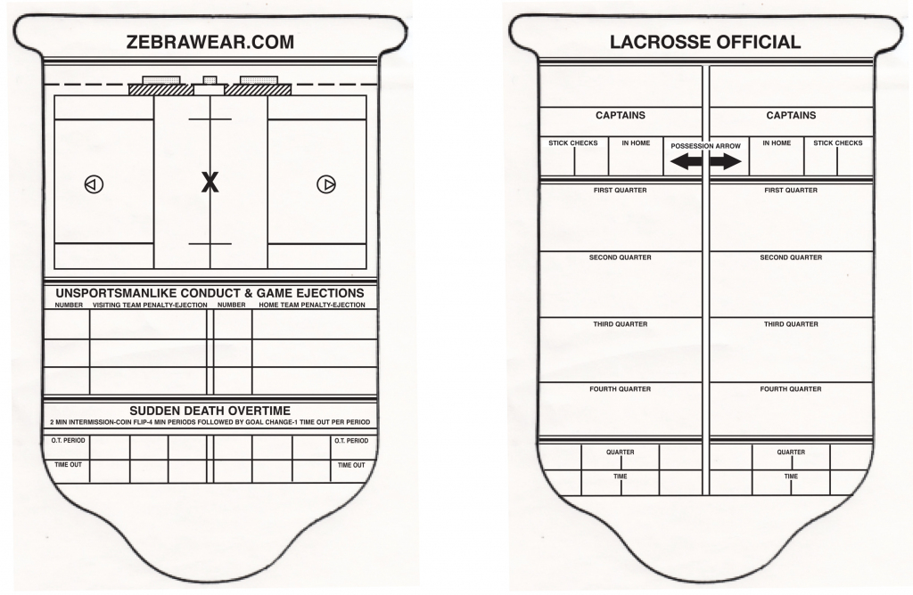 Zebrawear » Game Cards And Sheets | Printable Referee Score Cards